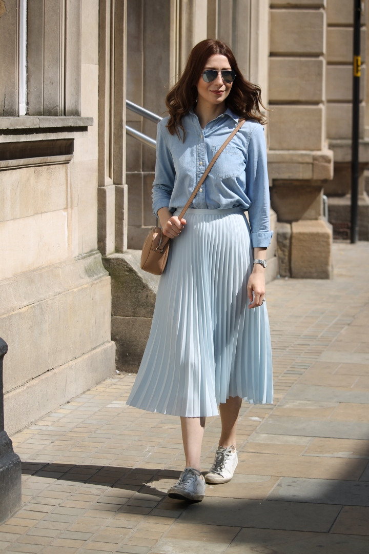 What I wore Sunday…feeling blue