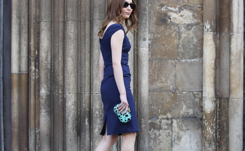 What I wore Sunday… little navy dress